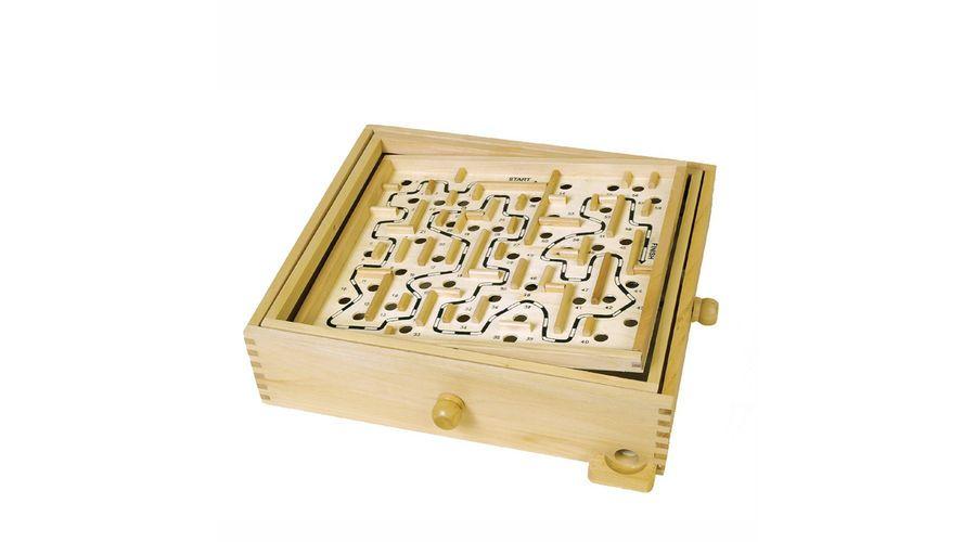 Wood Labyrinth Game